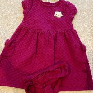 3T Gymboree Quilted Cat Dress with Panty Cover
